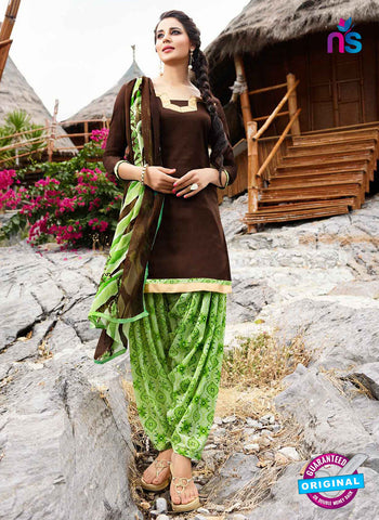 RT 15556 Brown Patiala Suit
