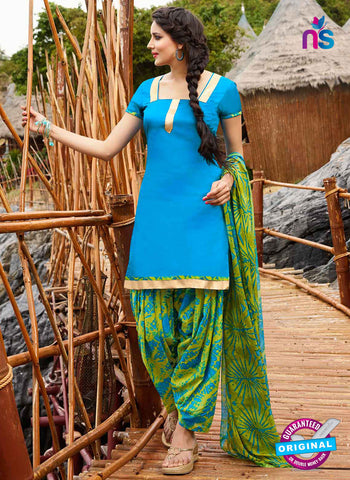RT 15561 Sky Blue Patiala Suit