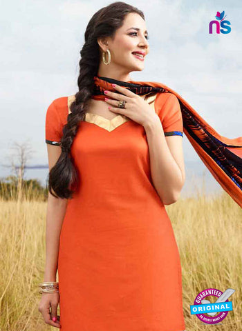 RT 15562 Orange Patiala Suit