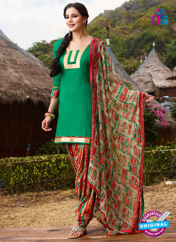 RT 15563 Green Patiala Suit