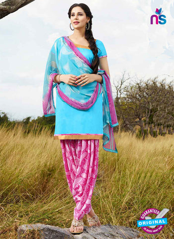 RT 15564 Sky Blue Patiala Suit