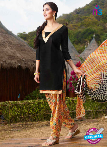RT 15565 Black Patiala Suit