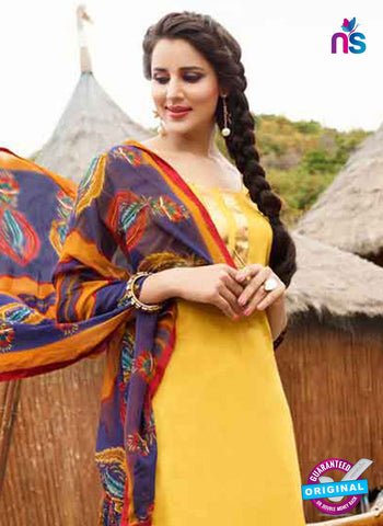 RT 15566 Yellow Patiala Suit