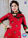 NS10625 Red and Green Cotton Suit