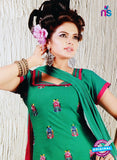 NS10626 Green and Pink Cotton Suit