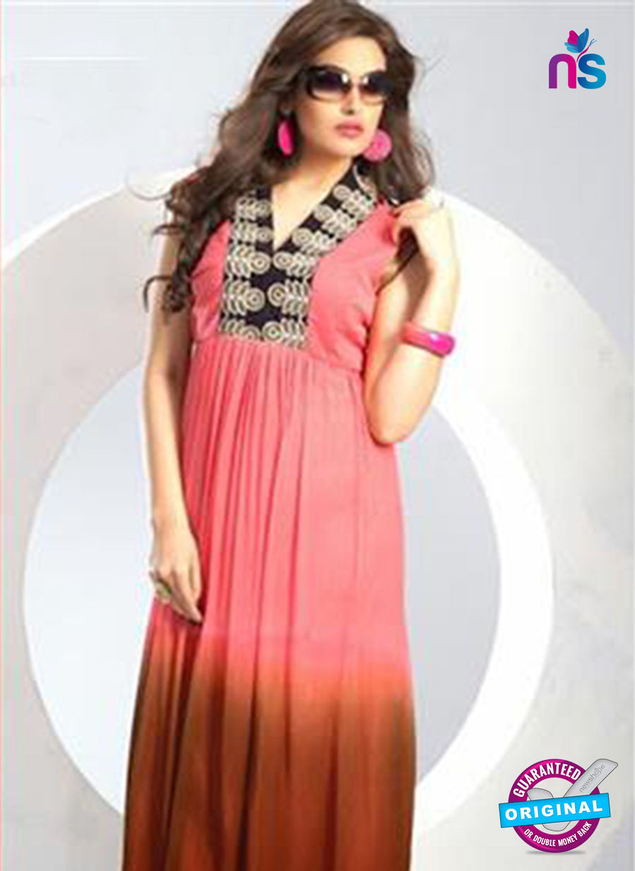NS12074 Pink Chiffon Anarkali Suit