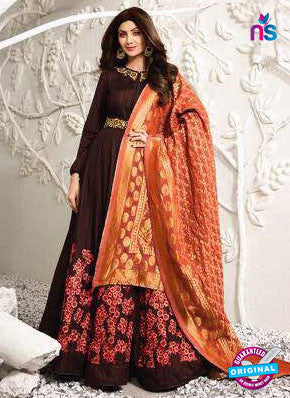 Karma 1581 Brown Anarkali Suit