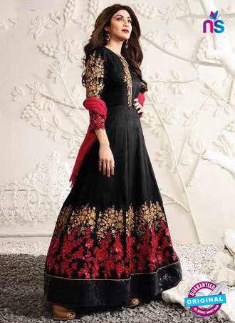Karma 1583 Black Anarkali Suit
