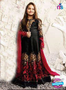 Karma 1583 A Black Anarkali Suit