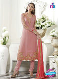 SC 13502 Pink Embroiderd Georgette Designer Long Suit