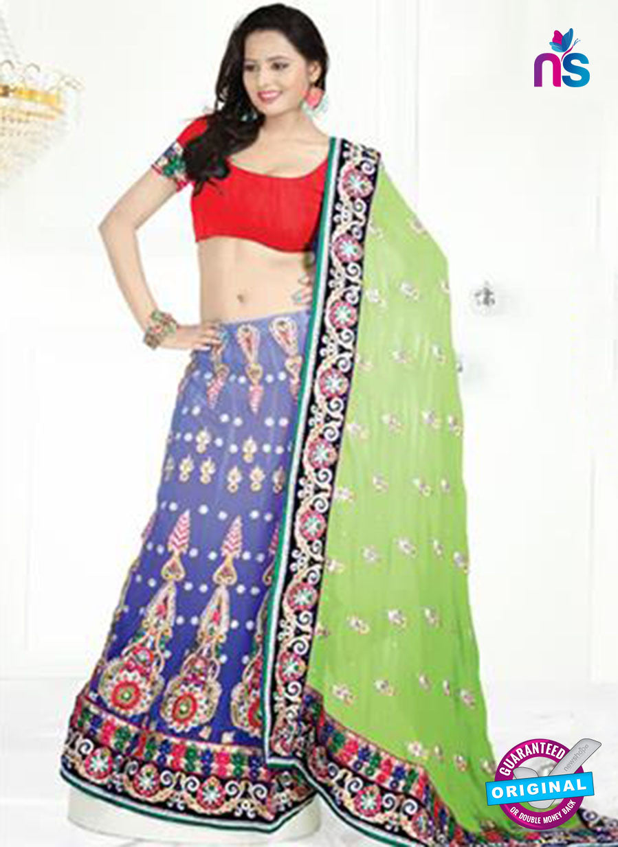 NS12254 Green and Blue Designer Saree