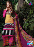 SC 13716 Multicolor and Magenta Glace Cotton Designer Exclusive Fancy Un-stitched Straight Plazo Suit