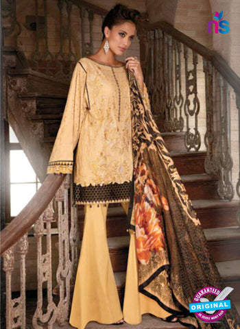 SC 13797 Beige Lawn Designer Fancy Traditional Plazo Suit