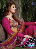 SC 13716 Multicolor and Magenta Glace Cotton Designer Exclusive Fancy Un-stitched Straight Plazo Suit Online