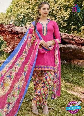 AZ 5251 Pink Cambric Cotton Casual Wear Patiala Salwar Suit