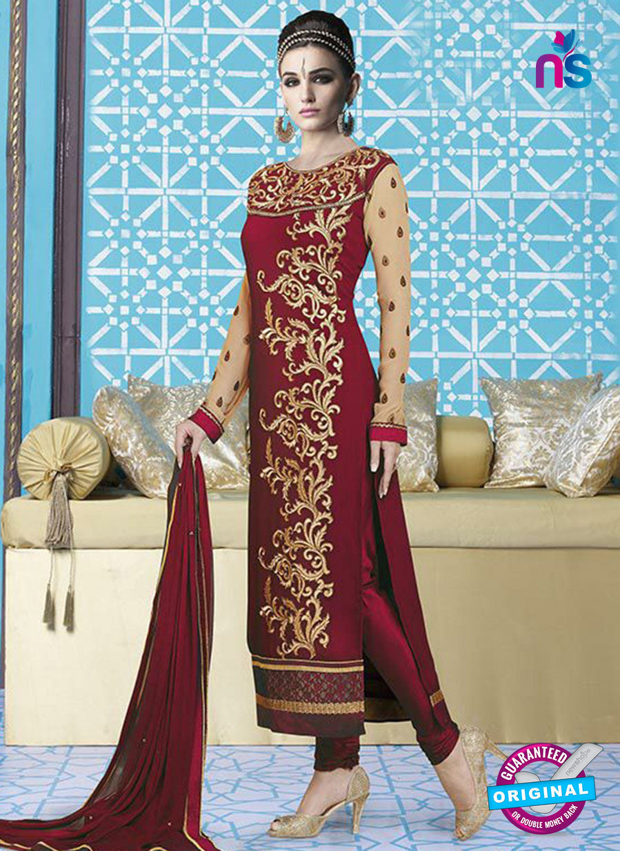 Mehak 16001 L Maroon Georgette Party Wear Suit