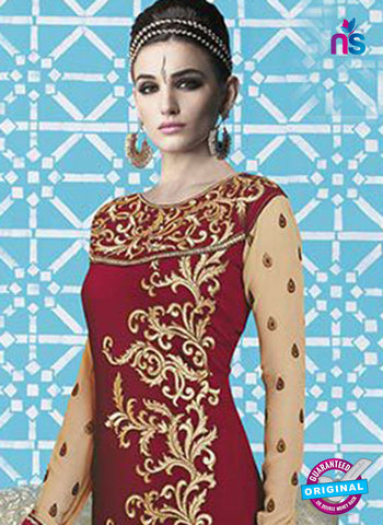 Mehak 16001 L Maroon Georgette Party Wear Suit Online