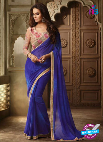 AZ 2101 Blue Georgette Fancy Party Wear Saree