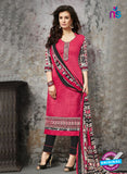 SC 14036 Pink and Black Cotton Satin Latest Straight Plazo Suit