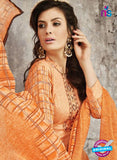 SC 14026 Orange Latest Cotton Satin Straight Plazo Suit Online