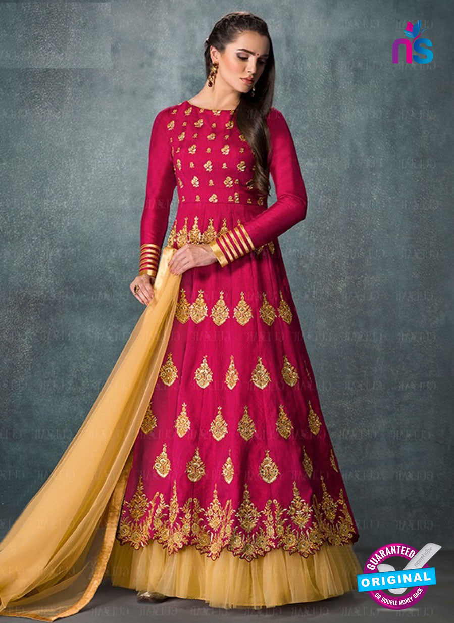 AZ 3576 Magenta Banglori Silk Party Wear Anarkali suit