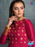 AZ 3576 Magenta Banglori Silk Party Wear Anarkali suit - Anarkali Suits - NEW SHOP