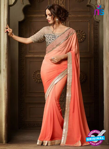 AZ 2109 Peach Georgette Fancy Party Wear Saree
