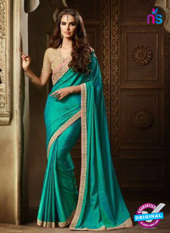 AZ 2110 Sky Blue Silk Fancy Party Wear Saree