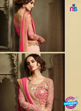 AZ 2111 Pink Georgette Fancy Party Wear Saree - Sarees - NEW SHOP