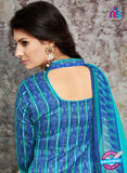 SC 14034 Sky Blue Cotton Satin Latest Straight Plazo Suit Online