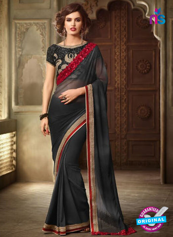 AZ 2114 Grey Georgette Fancy Party Wear Saree