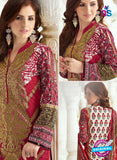 SC 13390 Maroon and Multicolor Embroiderd Lawn Cotton Designer Suit Online