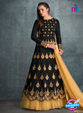 AZ 3572 Black Banglori Silk Party Wear Anarkali suit