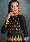 AZ 3572 Black Banglori Silk Party Wear Anarkali suit - Anarkali Suits - NEW SHOP