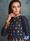 AZ 3573 Blue Banglori Silk Party Wear Anarkali suit