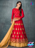 AZ 3575 Red Banglori Silk Party Wear Anarkali suit