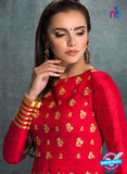 AZ 3575 Red Banglori Silk Party Wear Anarkali suit - Anarkali Suits - NEW SHOP