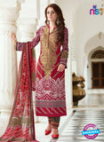 SC 13390 Maroon and Multicolor Embroiderd Lawn Cotton Designer  Suit
