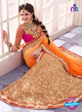 SC 13667 Orange and Brown Exclusive Designer Fancy Ethnic Wedding Wear Saree