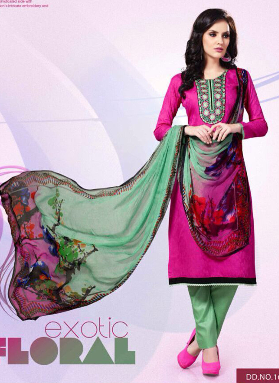 Mayur 1603 Pink Color Cotton Designer Suit