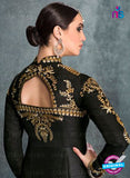 AZ 2225 Black and Beige Embroidered Banglori Silk Indo Western Suit - Salwar Suits - NEW SHOP