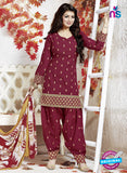 NS10158 Maroon Color Cotton Patiala Designer Suit
