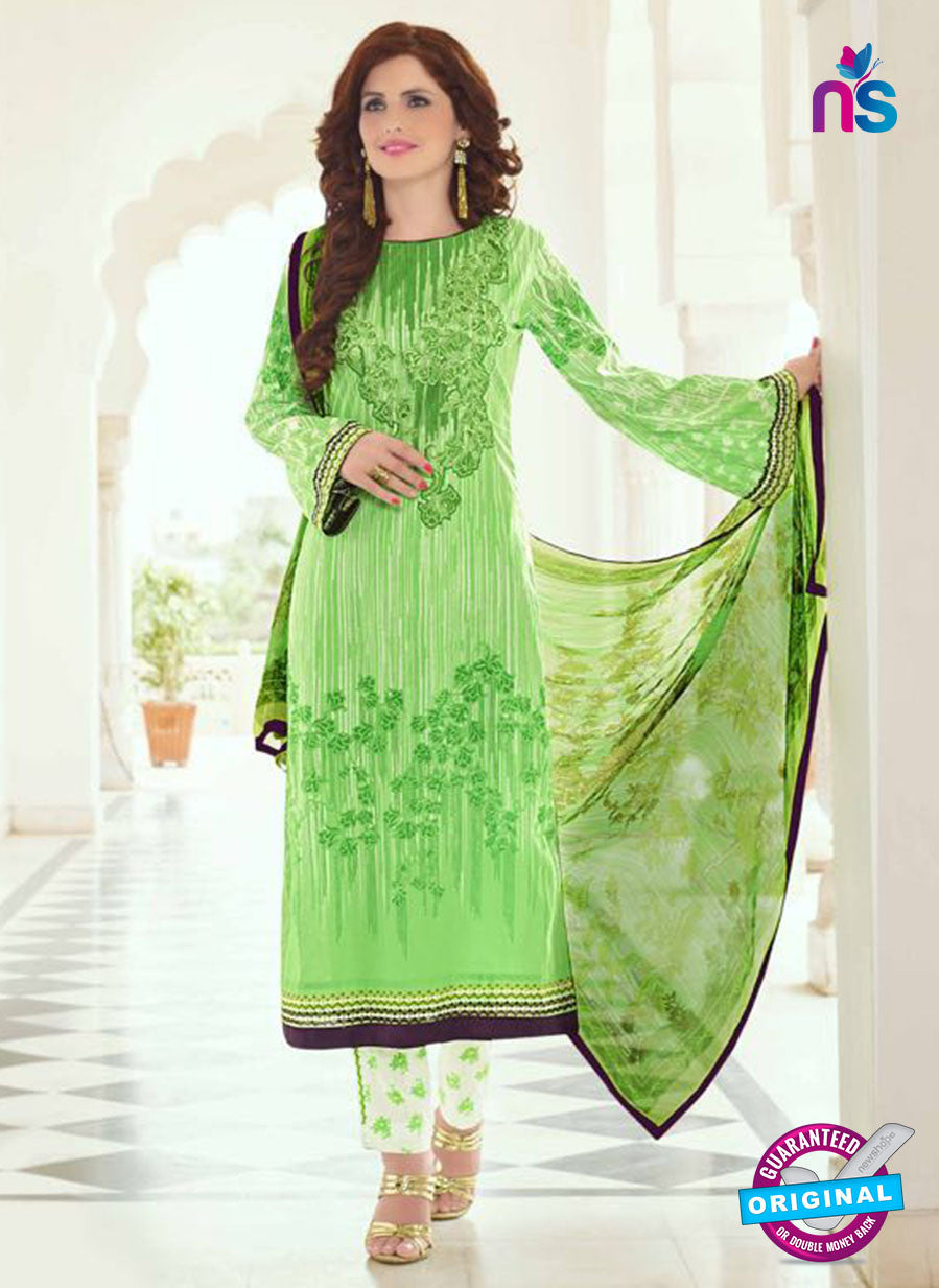 SC 13394 Green and White Embroiderd Lawn Cotton Designer  Suit