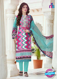 SC 13396 Sea Green and Pink Embroiderd Lawn Cotton Designer  Suit