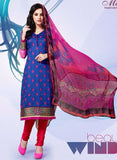 Mayur 1607 Blue & Red Color Cotton Designer Suit