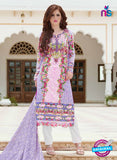 SC 13397 Multicolor and White Embroiderd Lawn Cotton Designer  Suit