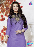 NS10162 Purple Color Cotton Patiala Designer Suit