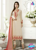 SC 13504 White Embroiderd Georgette Designer Long Suit