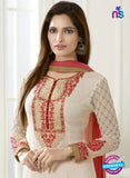 SC 13504 Beige Embroiderd Georgette Designer Long Suit Online