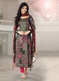 Rivaa 16102A Pink & Grey Color Glace cotton Designer Suit